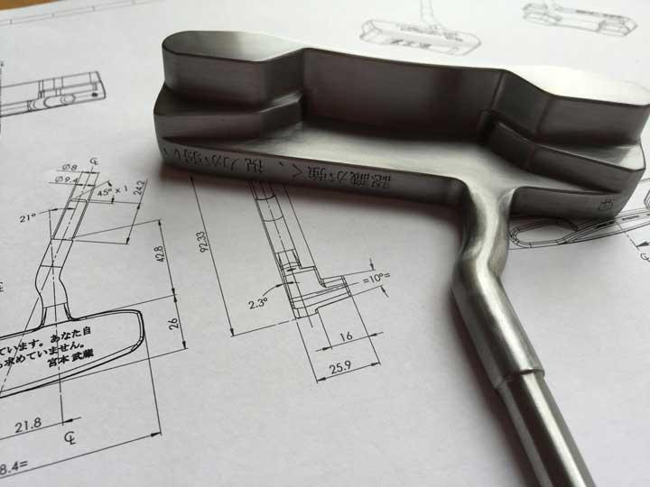 Patriot golf putter, design plans, Putt Absolutte