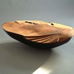 Elm Form with Zebrano inlay