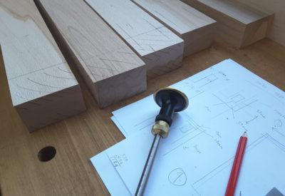 Jewellers bench in progress - Heather Woof