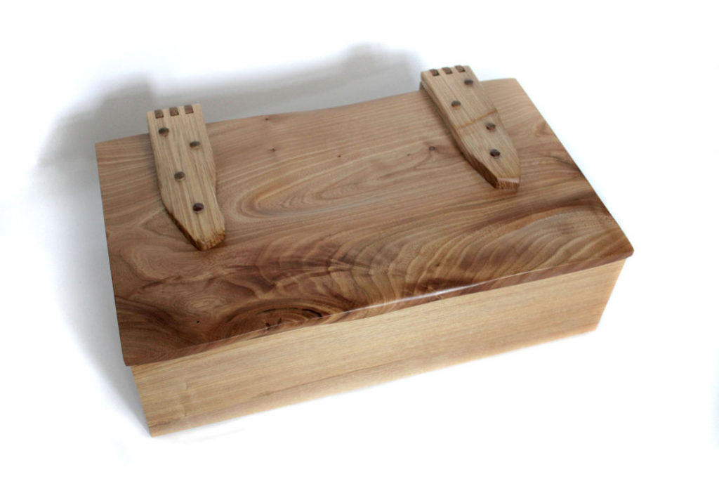 Handmade wooden box with lid