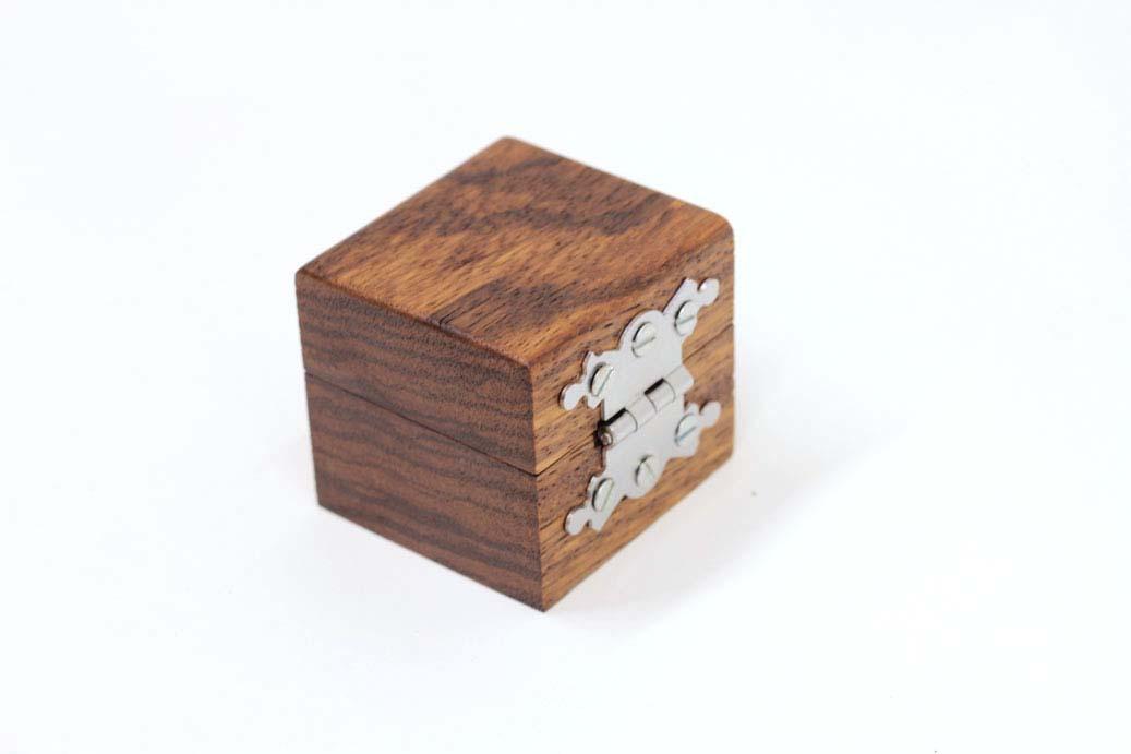 Wedding ring box - Engagement ring box - Zebrano