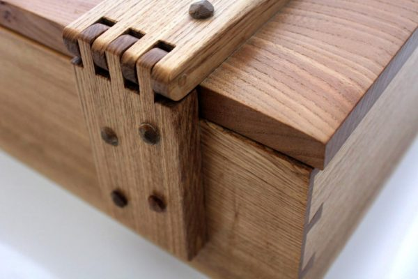 Large handmade wooden box by Neil Martin
