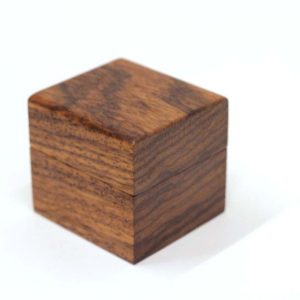 Wedding ring box - Engagement ring box - Zebrano