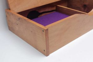 Spalted beech memory box