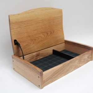 Ash box with tartan lining